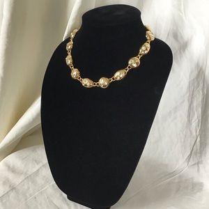 Vintage Glamour Napier Encrusted Crystal  Necklace